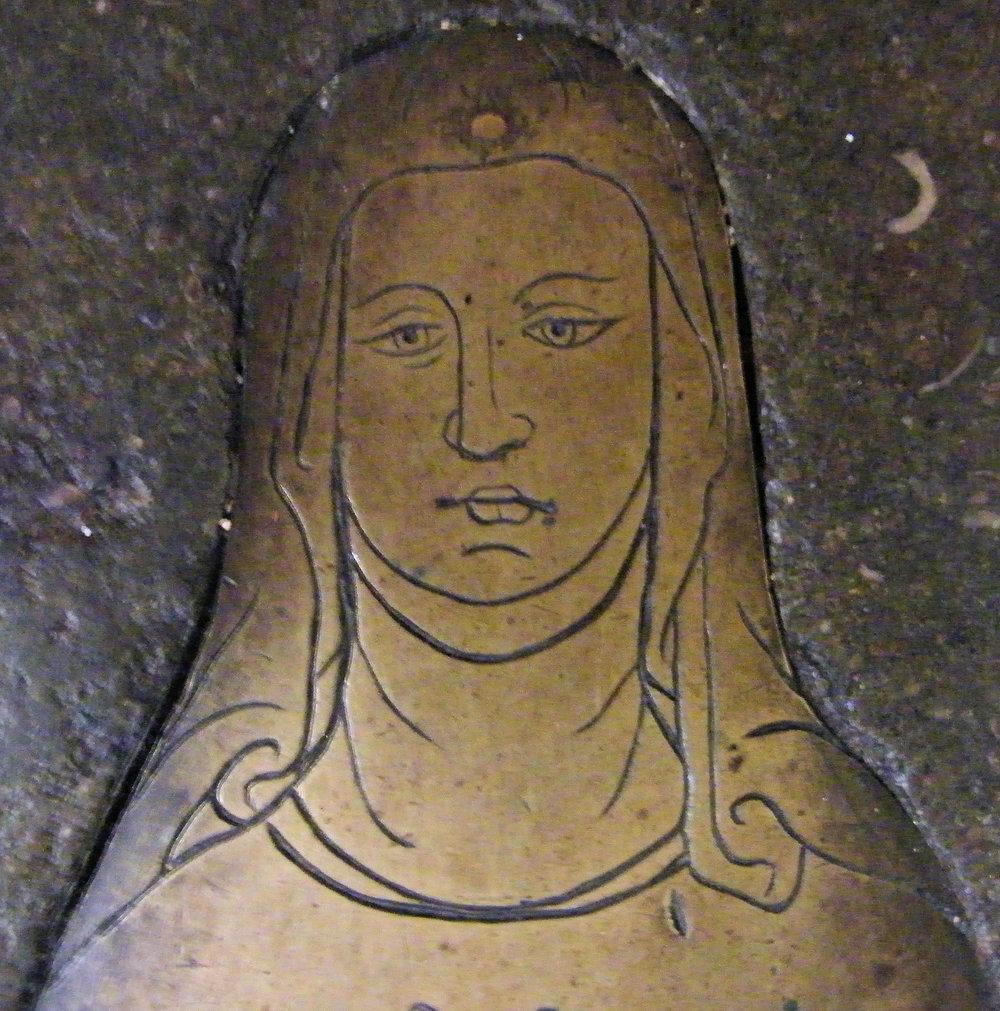 Maud Pecock (St Albans & St Michael, 1380) - Veil & wimple