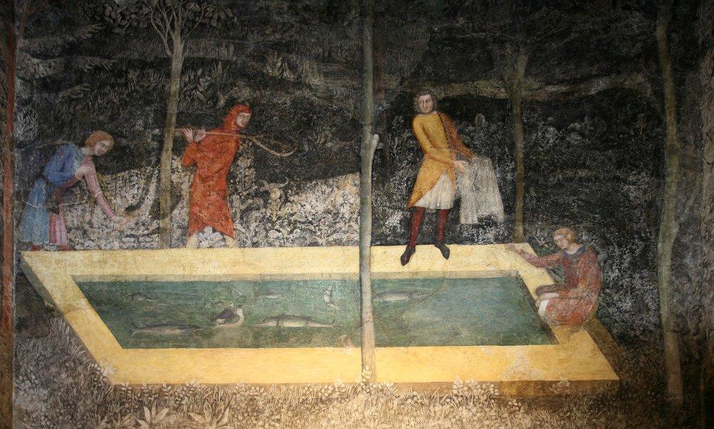 Chambre du cerf (Avignon, Palais des Papes, c. 1350)