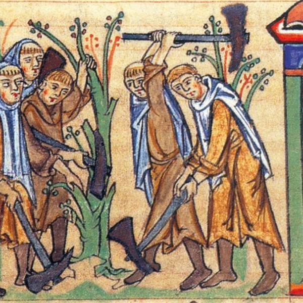 La fondation des quatre premières fille de citeaux. Cambridge. univercity. Ms. Mm. 5. 31, folio. 113r.