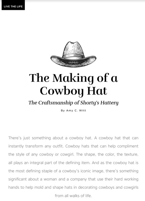 The Making of a Cowboy Hat - Western Horse   Gun - March issue ... e32aa8f66df