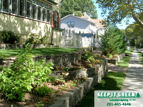 Residential landscape maintenance.  Rutherford, NJ  07070