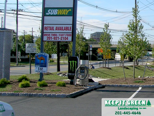 Commercial landscape maintenance.  Carlstadt, NJ  07072