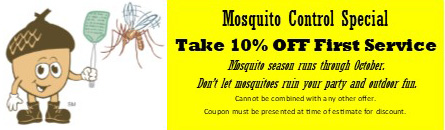 take 10% off mosquito control first service