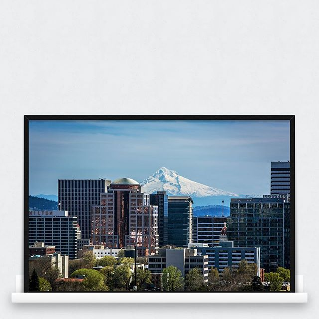 We've just added a whole bunch of new prints to our store including this one from Portland #pdx #portland #mthood #hood #cityofportland #mountain - available now! #awayarts www.awayarts.com