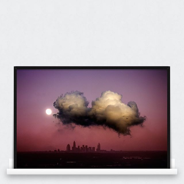 New print! Charlotte skyline. Available at awayarts.com. #photoprint #print #art #photoposter #poster #awayarts #charlotte #cloud #airplane #dramaticimagines #nature #skyline
