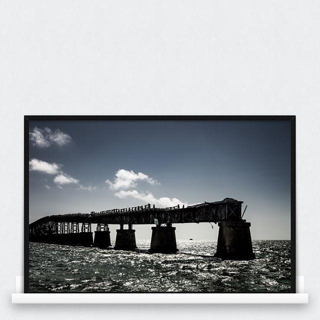 A deluding bridge, #thekeys #florida available as print at awayarts.com #keyslife #keywest #thekey #print #photoprint #photoart #bridge #oldbridge #poster #art #dramaticimagines #awayarts #ocean