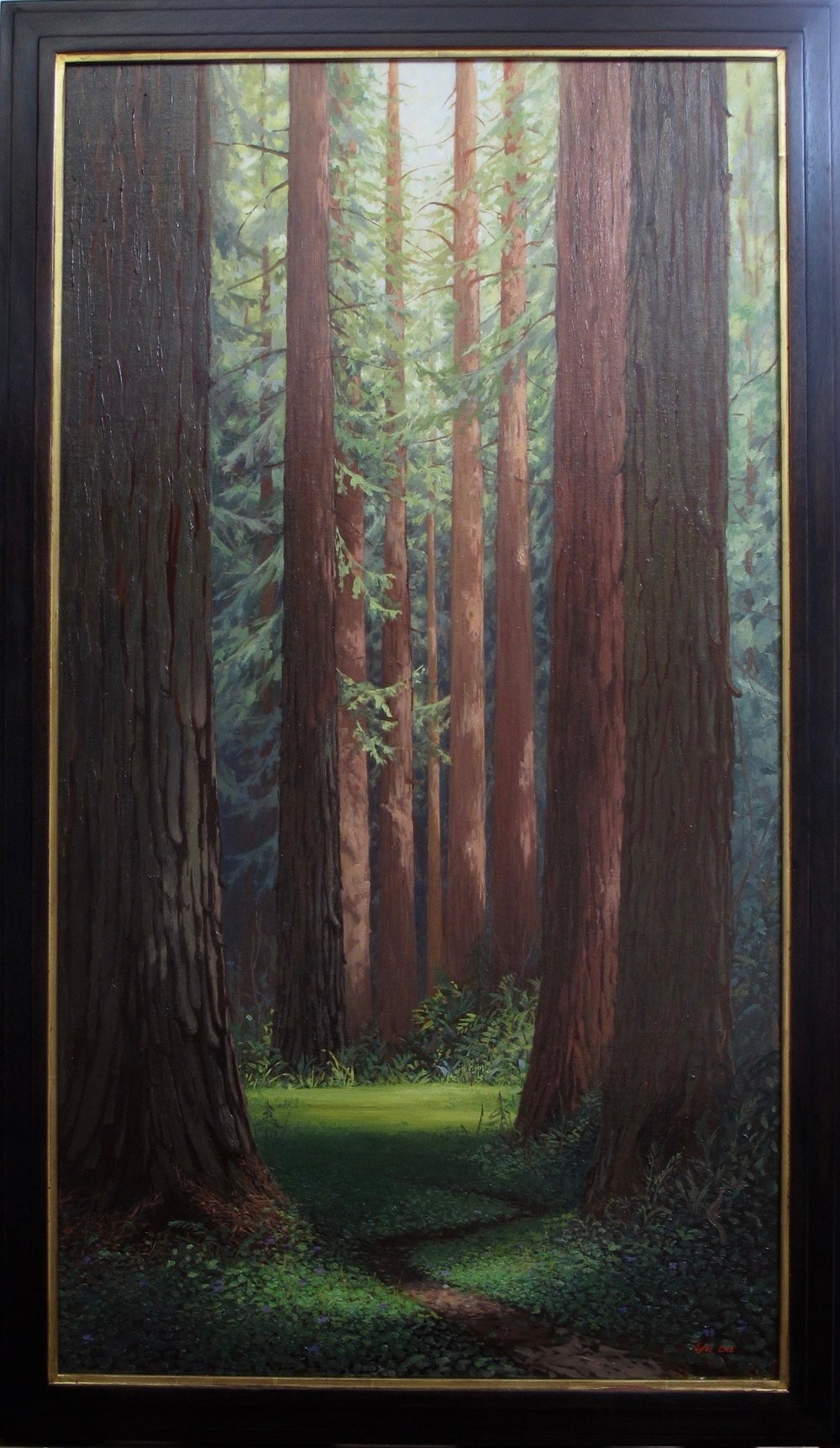 Redwood Forest - 24 x 44 inches, oil on linen, 2018