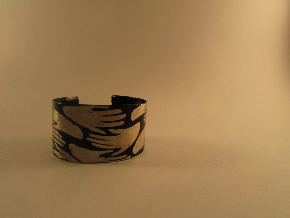 Hand created Etched Cuff, a new and different design from my signature coin pieces!