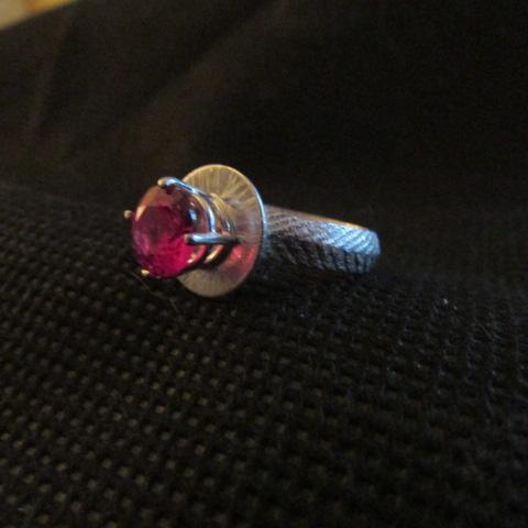 Silver Ruby Ring from Cuttlebone cast