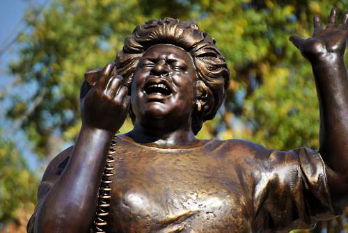 ... On whose broad shoulders we stand.   [Fannie Lou Hamer statue in Ruleville, Sunflower County, Mississippi.]