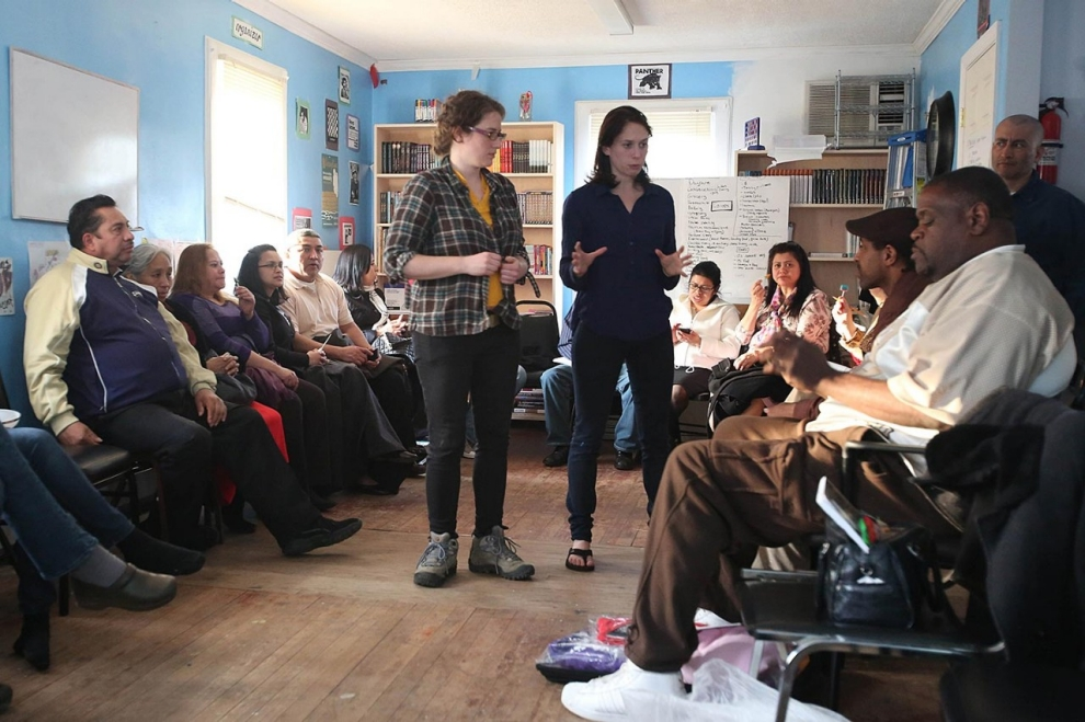 A SPRING 2013 TRAINING FOR THE WORKER-OWNED ROCKAWAY COOPERATIVES. PHOTO CREDIT: RONNY NUNEZ