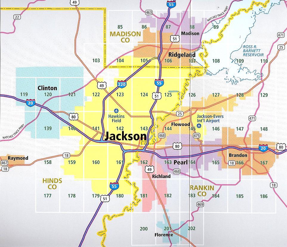 Jackson Mississippi Map   World Map 07