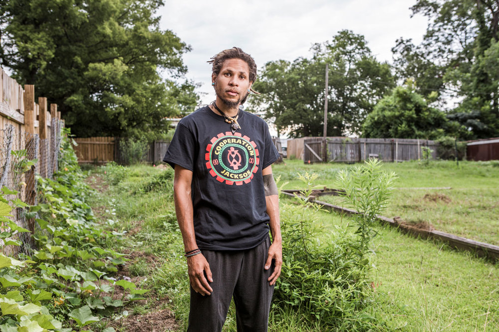 Brandon King at Cooperation Jackson's Freedom Farms