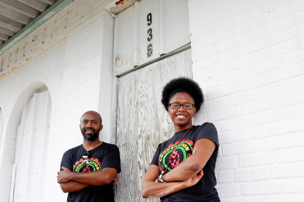 Gyasi Williams (left) and Amalya Livingston of the Community Production Initiative.