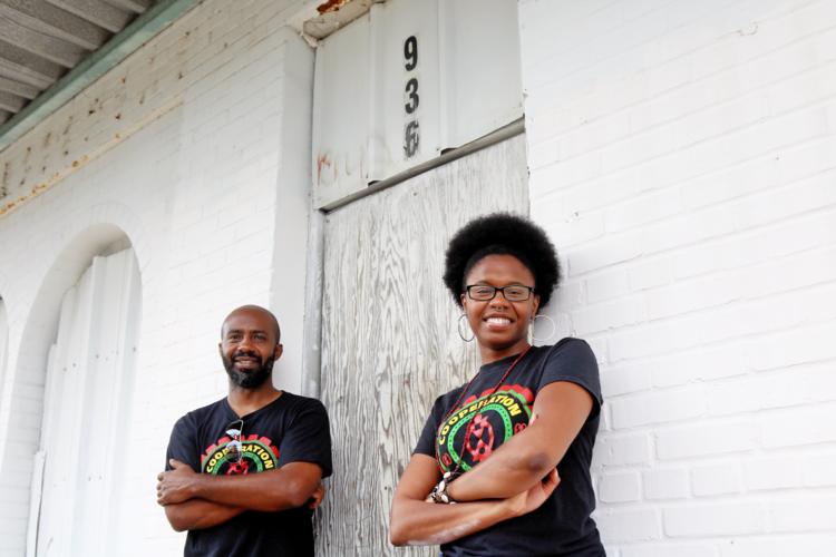 Gyasi Williams (left) and Amalya Livingston of the Community Production Initiative.