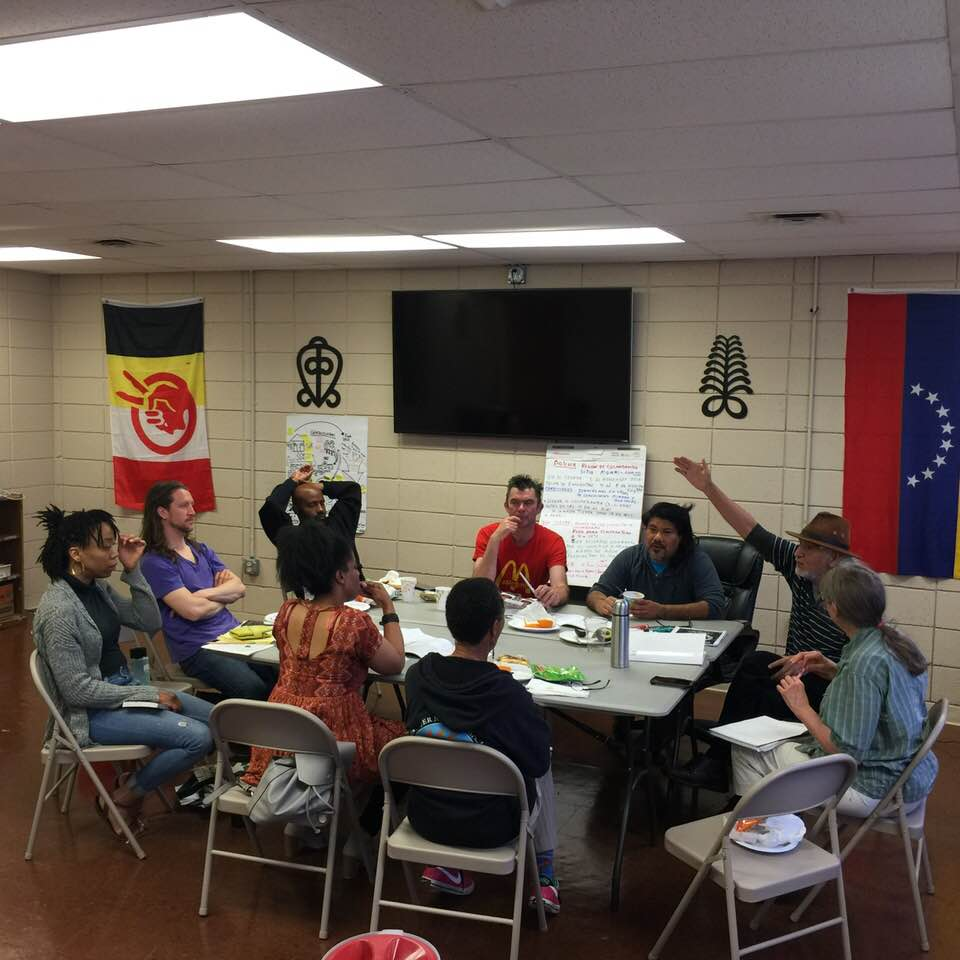Over 40 local and national activists committed to building the EcoSocialist international in the North American region.