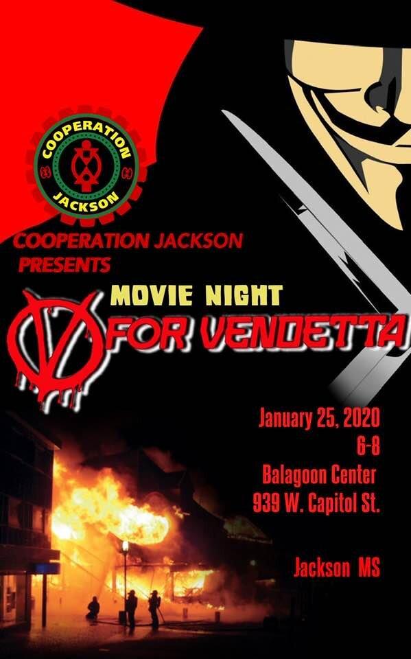 January 2020 Movie Night V For Vendetta Cooperation Jackson
