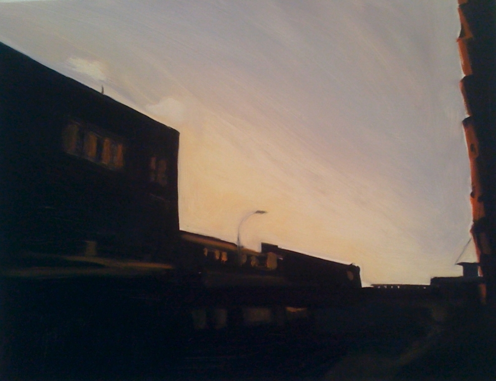 "Little West 12th Street Oil on wood panel 24"" x 18"" 2010"