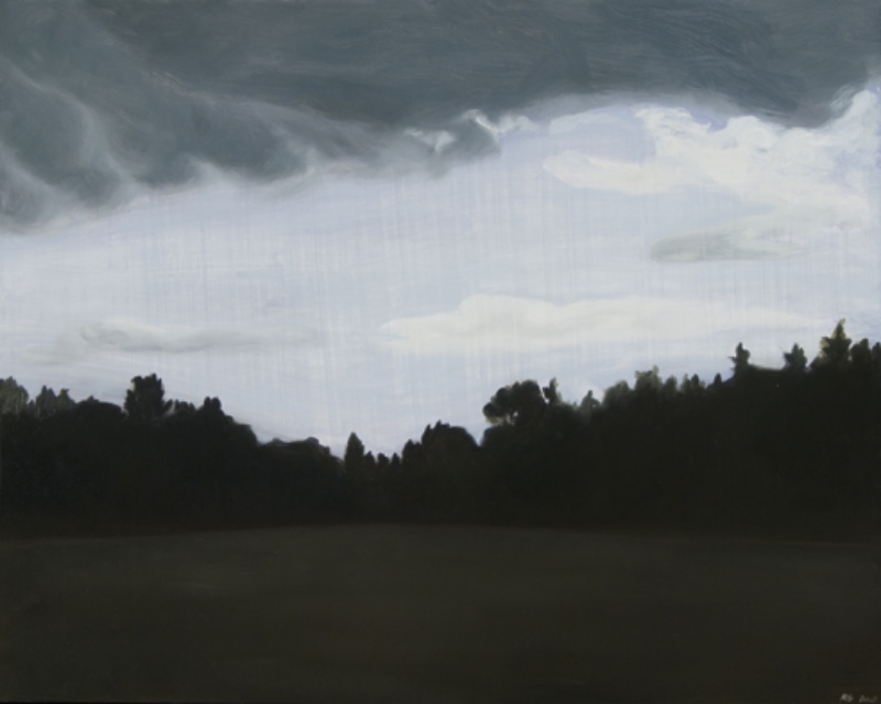 "Playground After the Storm Oil on wood panel 24"" x 18"" 2009  sold"