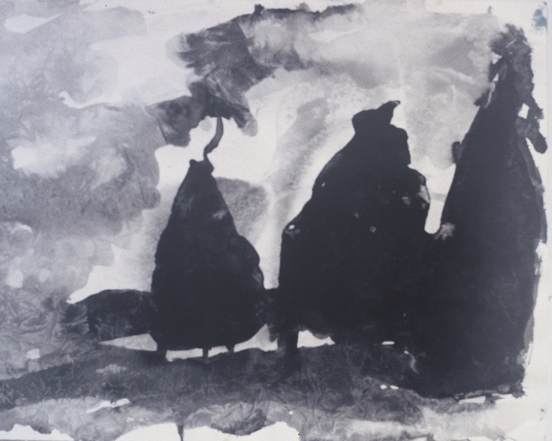 Moon at John Walker's Ink on paper 1997
