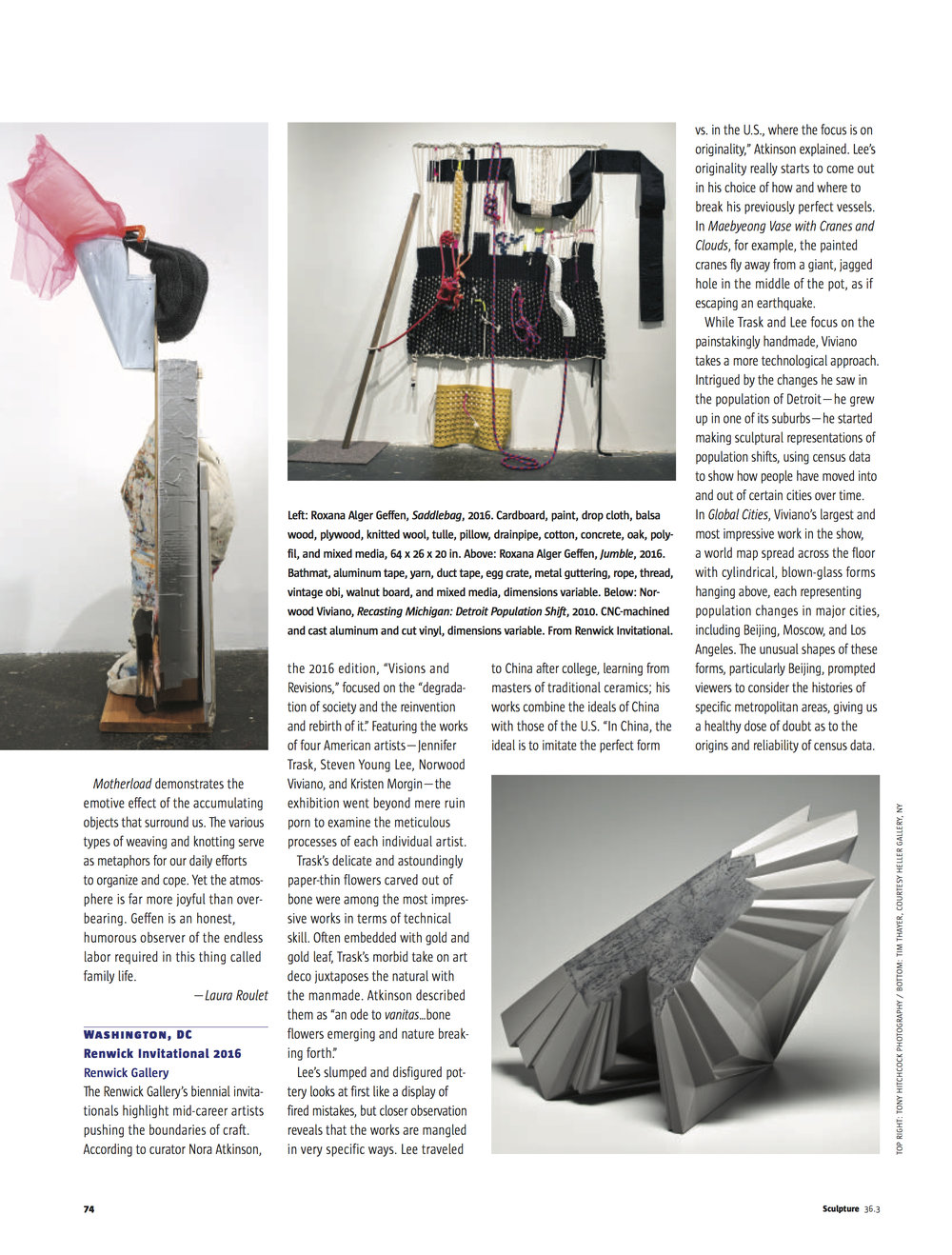 Sculpture Magazine.April2017.Geffen review