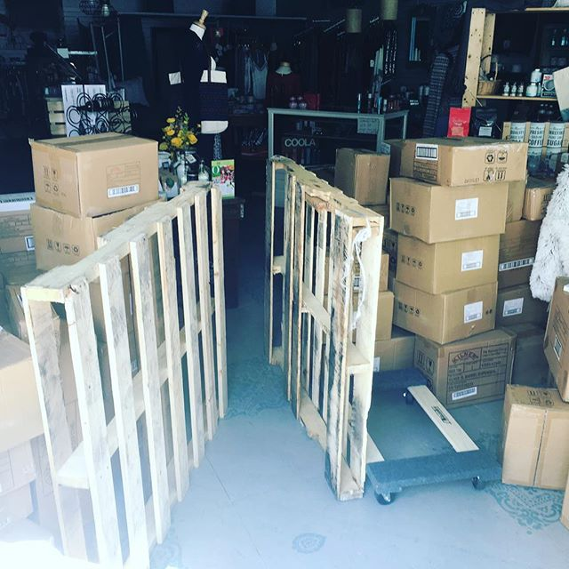 Pallets on pallets of awesome goods! #springislikechristmasforme #summer2017 #masoncash #kilner #timetogetbaking #kitchen #homegoods #baking #cooking
