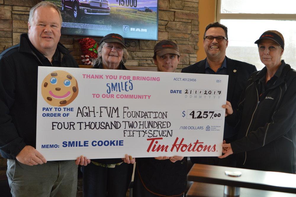 Almonte Tim Horton's Smile Cookie campaign