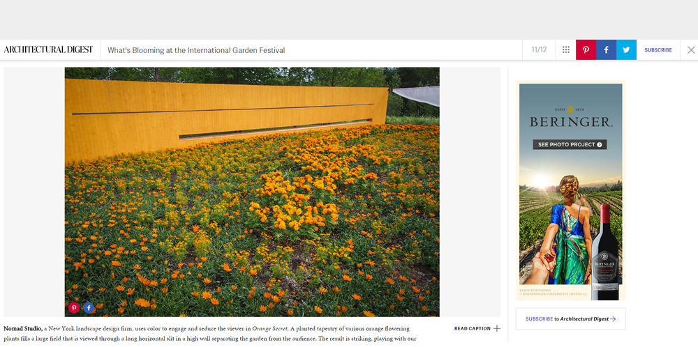 Architectural Digest.  Orange Secret