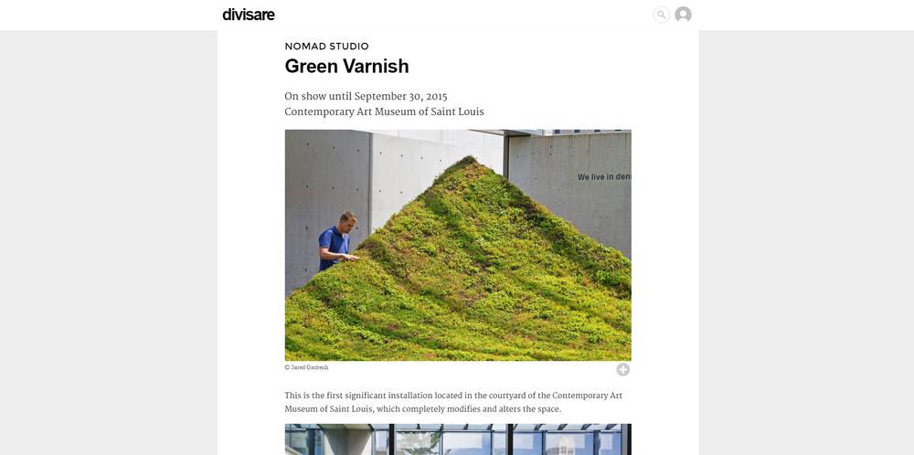 Divisare.  Green Varnish