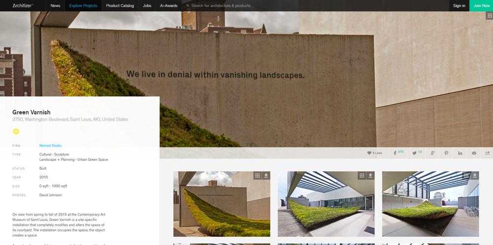 Architizer.  Green Varnish