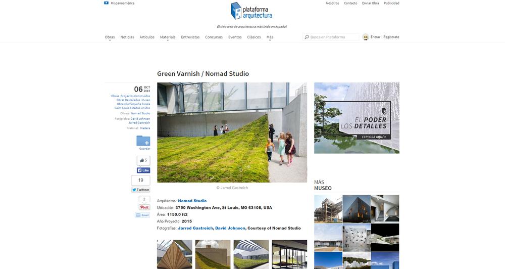 Plataforma Arquitectura.  Green Varnish