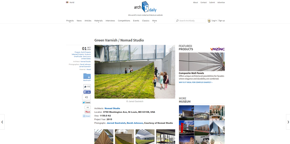 Archdaily.  Green Varnish