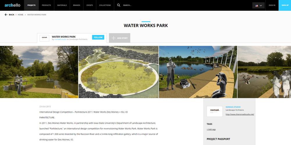 Archello.  Water Works Park