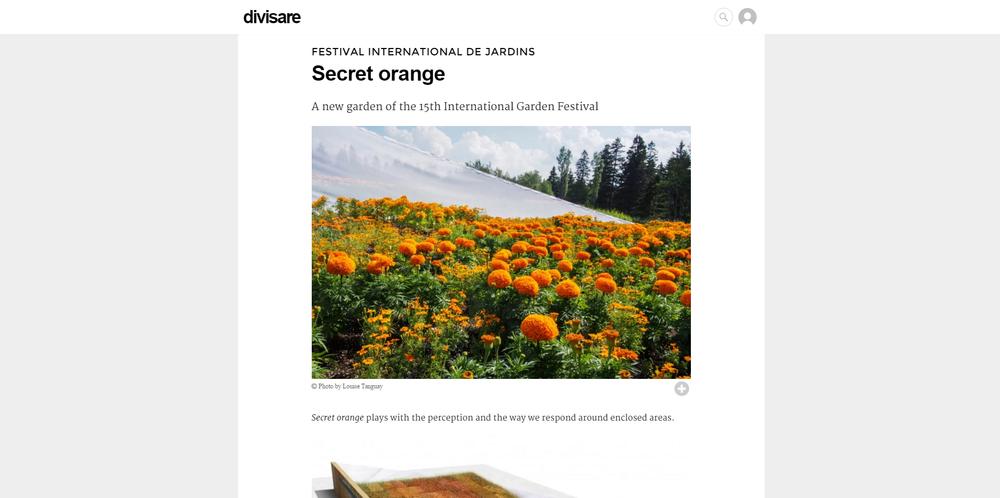 Divisare.  Orange Secret