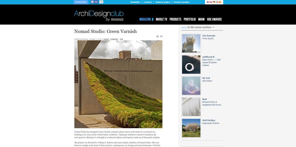 ArchiDesignClub by Muuuz.    Green Varnish