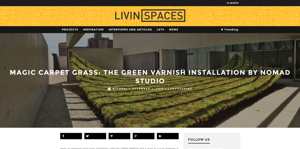 LivinSpaces.   Green Varnish