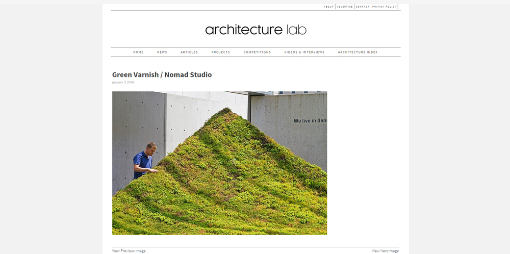 Architecture Lab.    Green Varnish