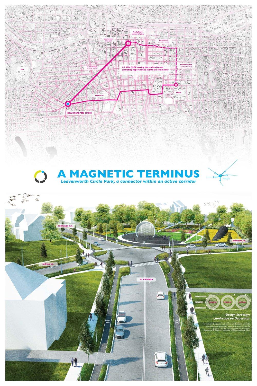 Leavenworth Circle Park, a connector within an active corridor Public Presentation. October 2016, Syracuse, NY.