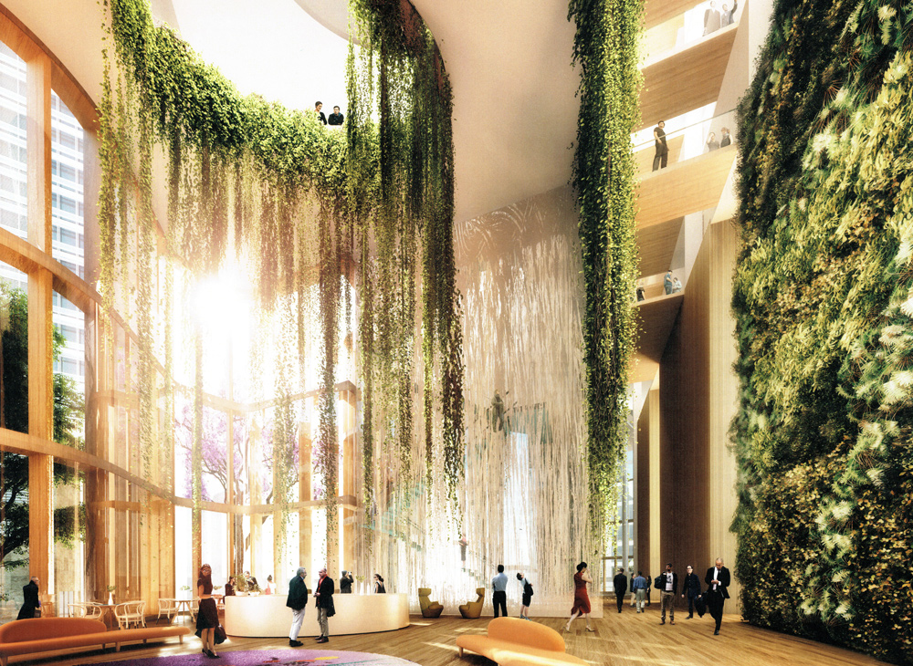 Circular Quay Tower's Lobby. Image courtesy of BVN Architects.