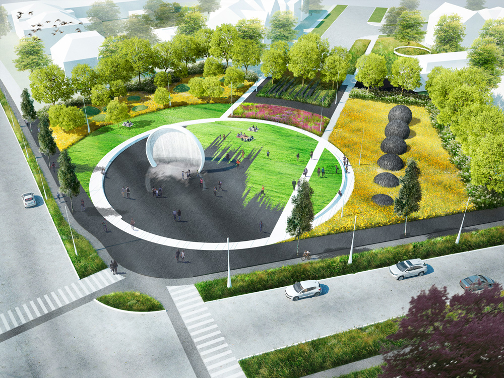 Leavenworth Circle Re-design Initiative. NWS, Syracuse, NY