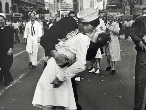 Alfred Eisenstaedt- VJ Day at Times Square, New York- 1945