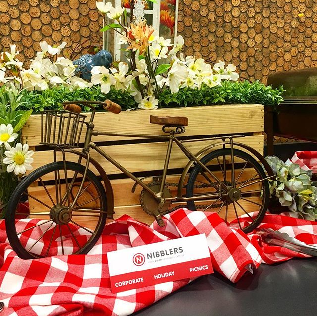 It's #BikeToWork #Day! #NibblersCatering celebrated w/ #breakfast for our client's employees who biked to work. #healthy #ecofriendly #environment