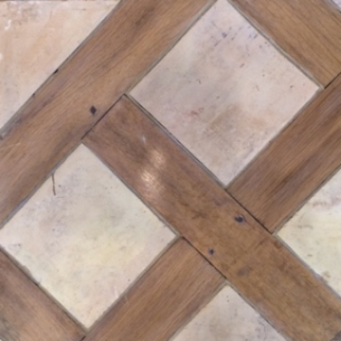 Oak and Antique Terra Cotta Parquet Versailles
