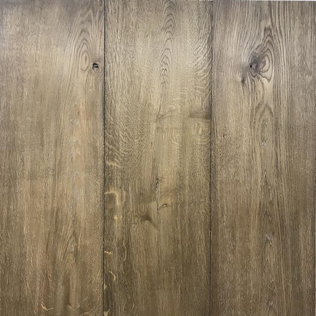 "11"" Wide Plank Engineered floor: European White Oak, live cut, light character, chemically oxidized and hand colored.  Our engineered floors are the best in the nation. Handcrafted #locally, they are the most stable and durable floor available. With a solid maple core, they are perfectly balanced because the top and bottom layers are the same species, thickness and cut. Our signature finish completes this one-of-a-kind, bespoke floor that is going to look amazing in our clients new home."