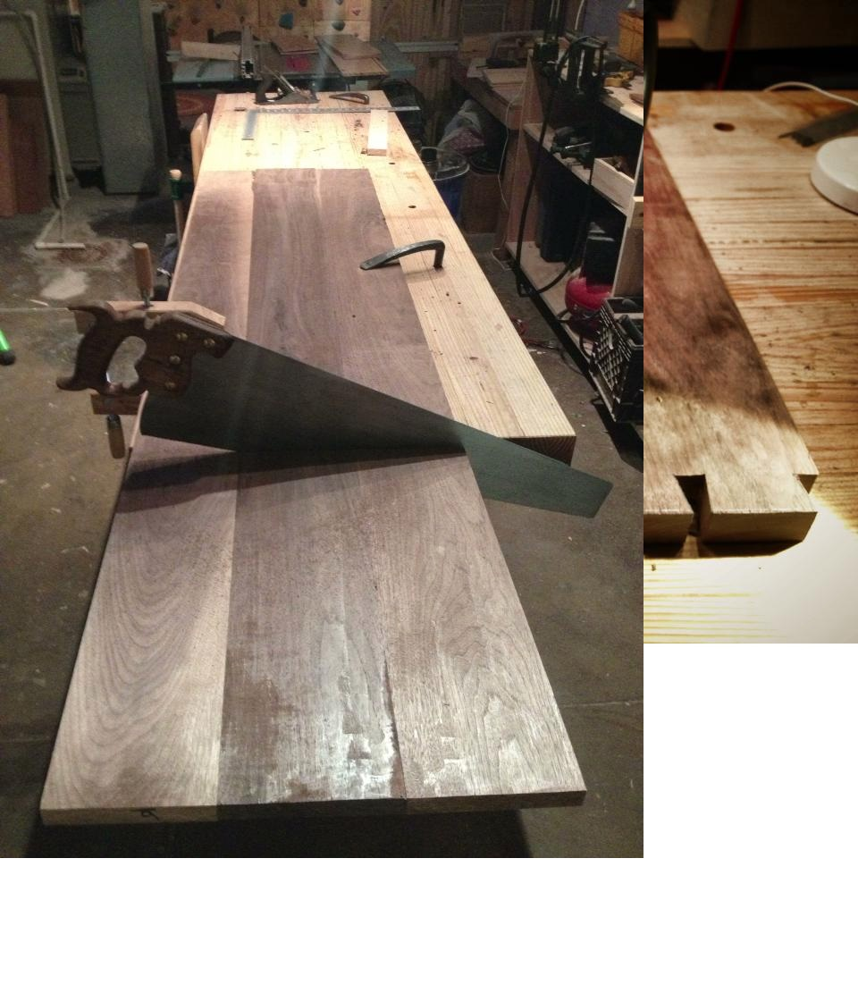 Started with raw, unfinished black walnut. Here it is after jointing and initial planing.