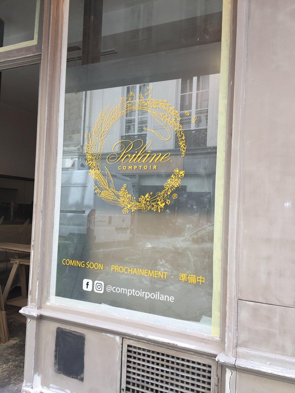 Comptoir Poilâne  We missed the opening by 5 days!