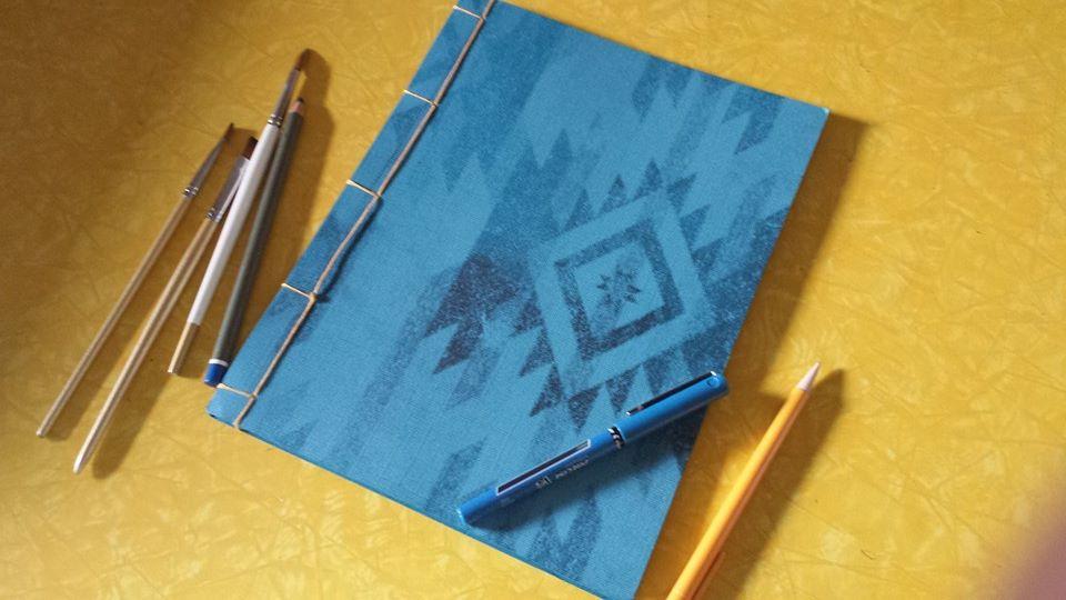 Ruth Miller's handmade notebook pour moi.