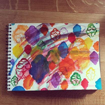 Venusverse, watercolor, New York, 5/5/2014