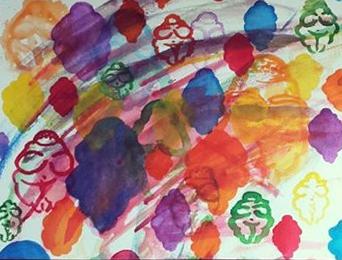 "Venus vine, watercolor, 10"" x 14"""