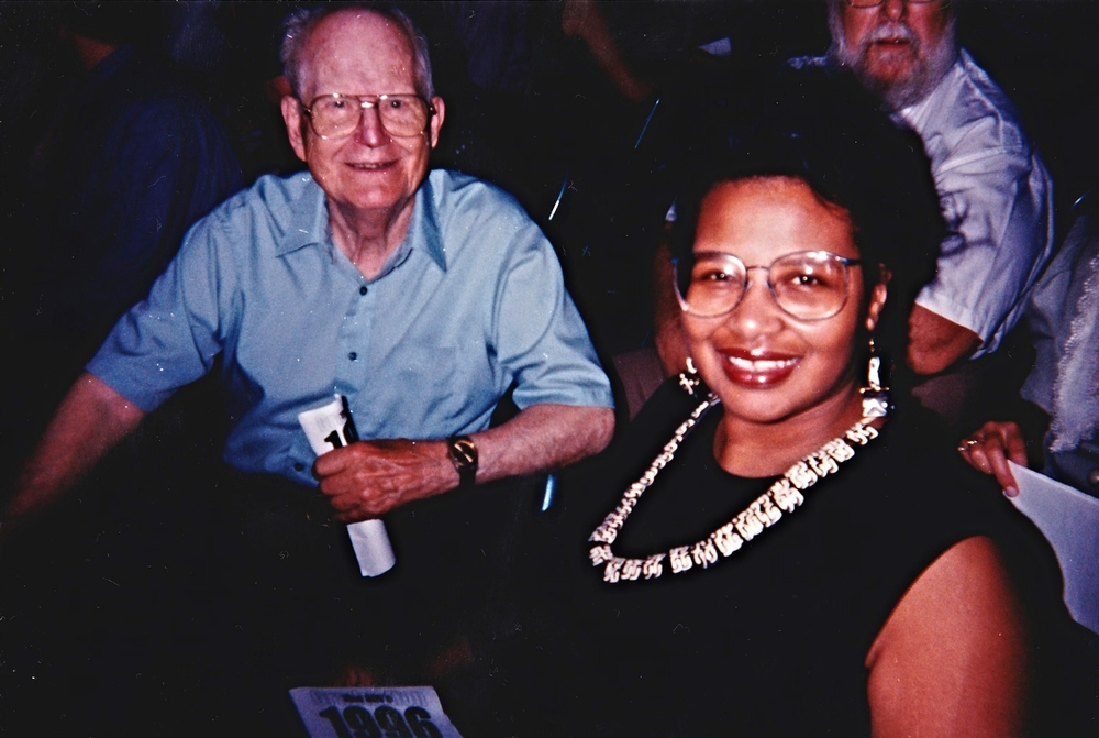 My graduation from 8th grade: Grampy + Rev. Marjorie Bowens-Wheatley, my mentor (June 1996)